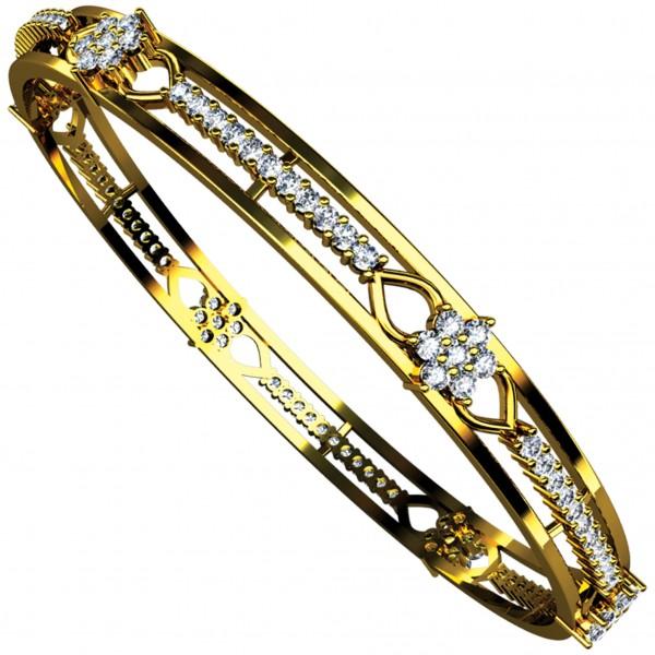 Diamond Bangle Pair 4BGAA030