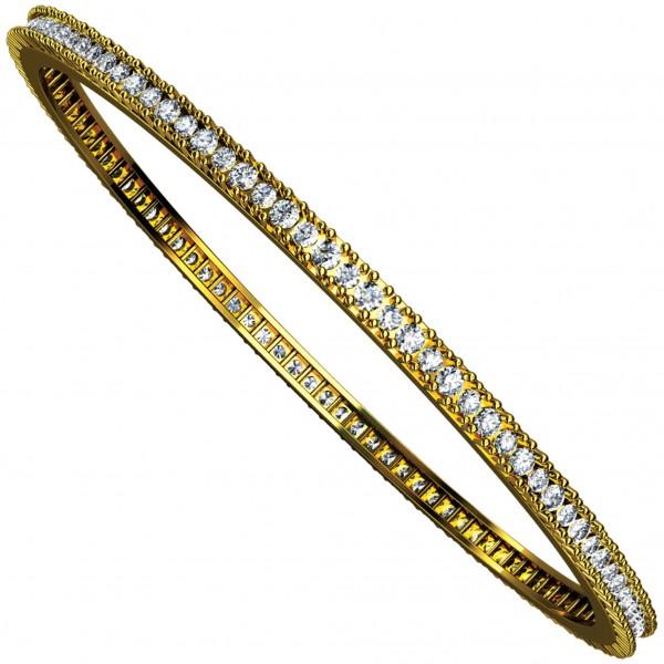 Diamond Bangle Pair 4BGAA049