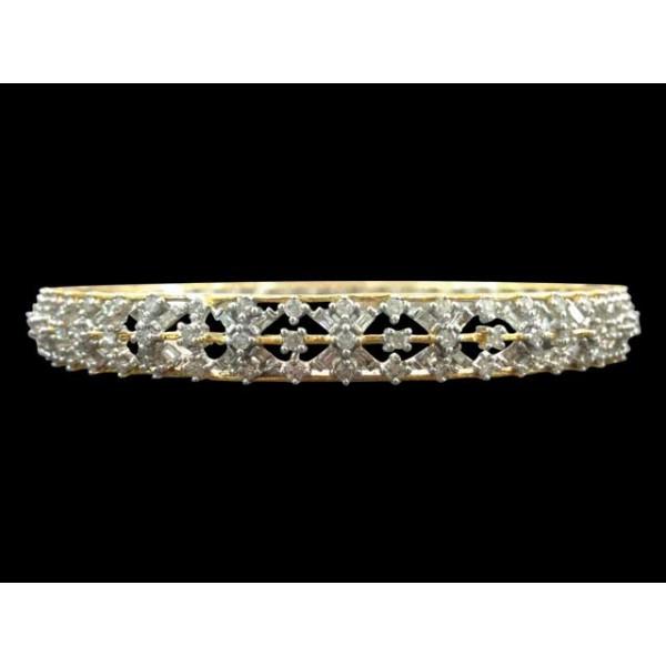 Diamond Bangle Pair 4BGAA078