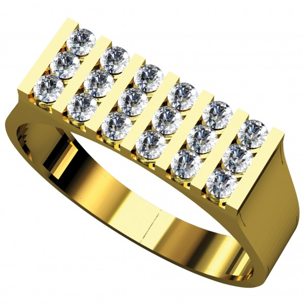 Diamond Gents Ring GRAA020
