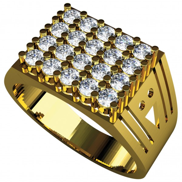 Diamond Gents Ring GRAA024