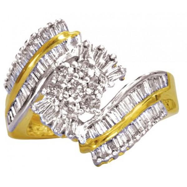 Sterling Silver  Ladies Ring made with Swarovski Zirconia SLRAA272G