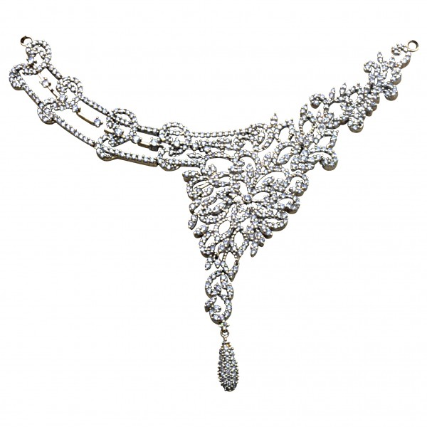 Sterling Silver  Necklace made with Swarovski Zirconia SNCAA039G