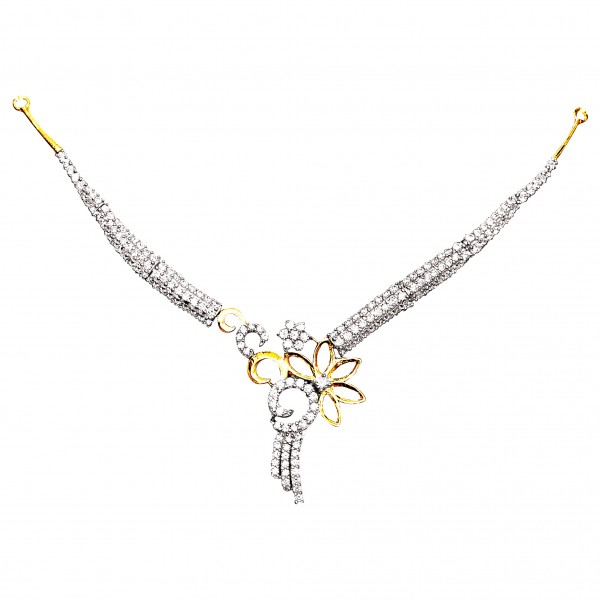 Sterling Silver  Necklace made with Swarovski Zirconia SNCAA051G