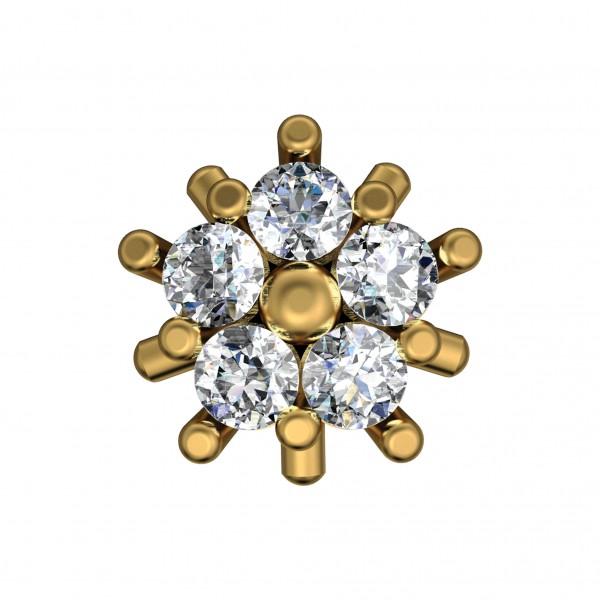 Diamond Nose Pin 4NPAA001