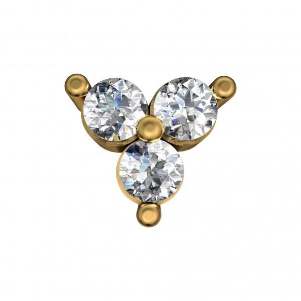 Diamond Nose Pin 4NPAA010