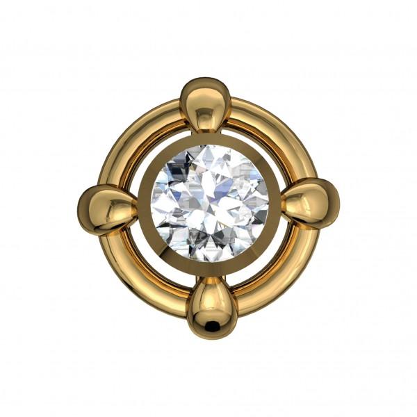 Diamond Nose Pin 4NPAA012