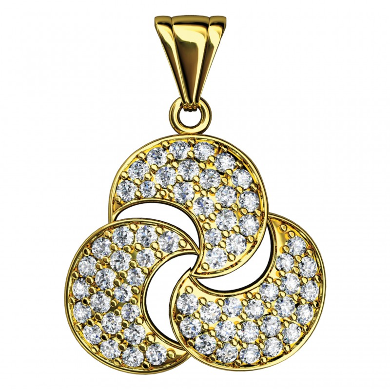 Sterling Silver  Pendant made with Swarovski Zirconia SPNAA013G