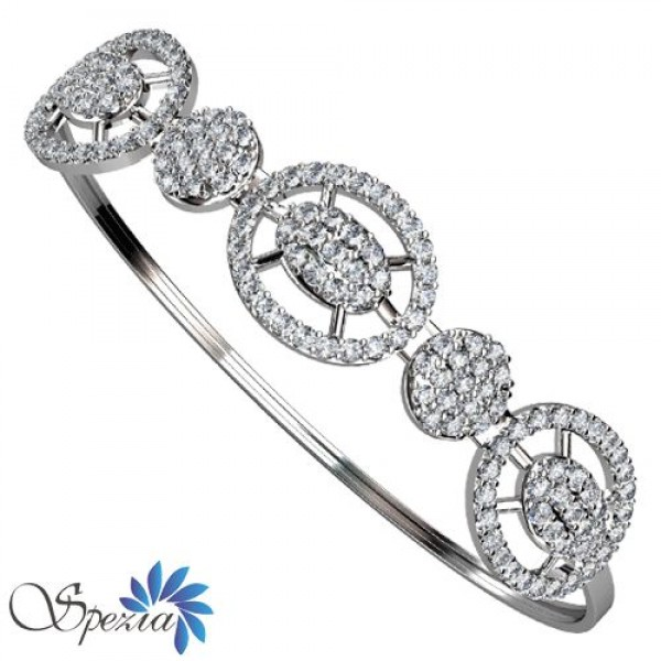 Sterling Silver  Bracelet made with Swarovski Zirconia SBRAA005
