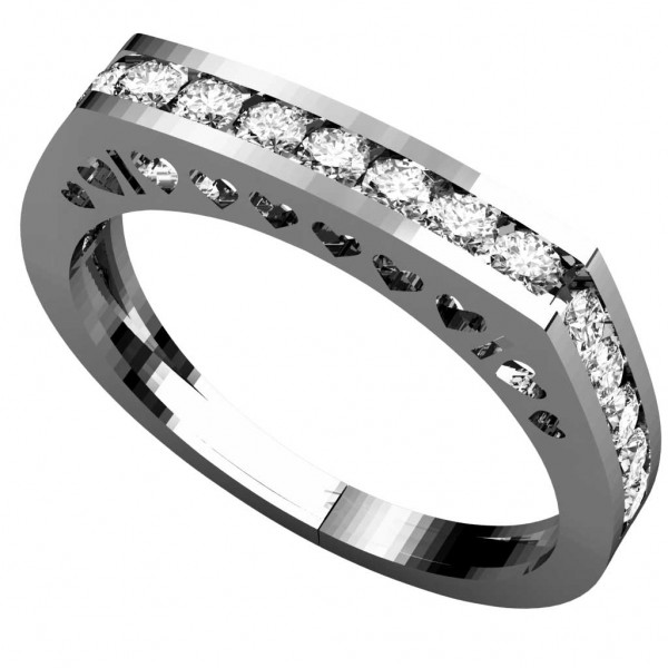 Sterling Silver  Ladies Ring made with Swarovski Zirconia SLRAA006