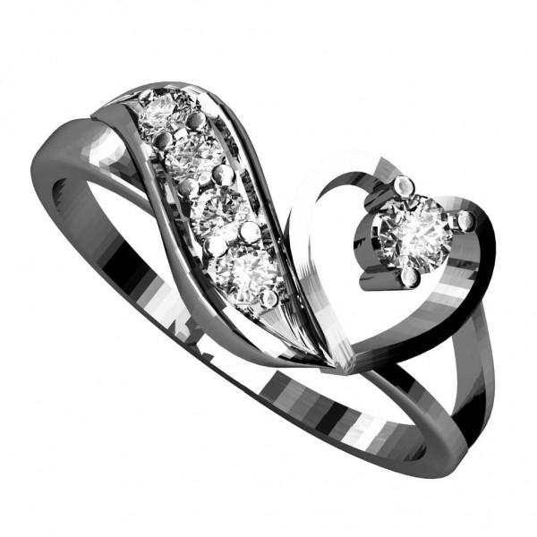 Sterling Silver  Ladies Ring made with Swarovski Zirconia SLRAA084