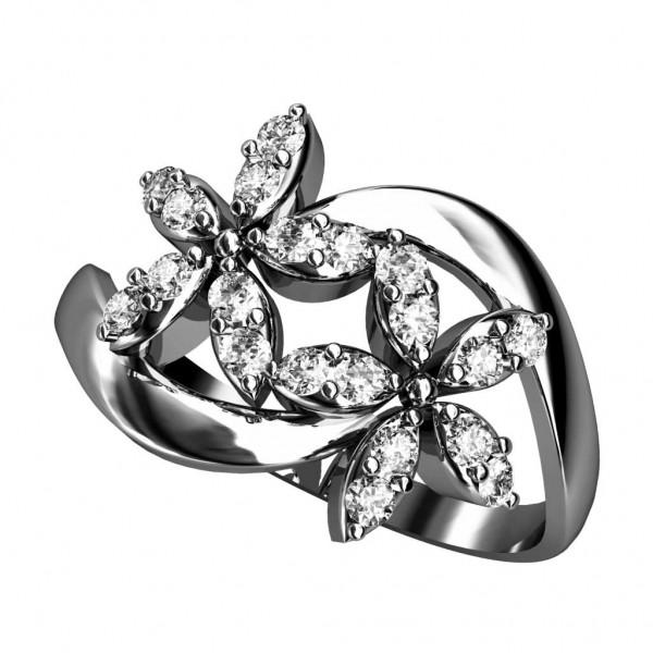 Sterling Silver  Ladies Ring made with Swarovski Zirconia SLRAA179