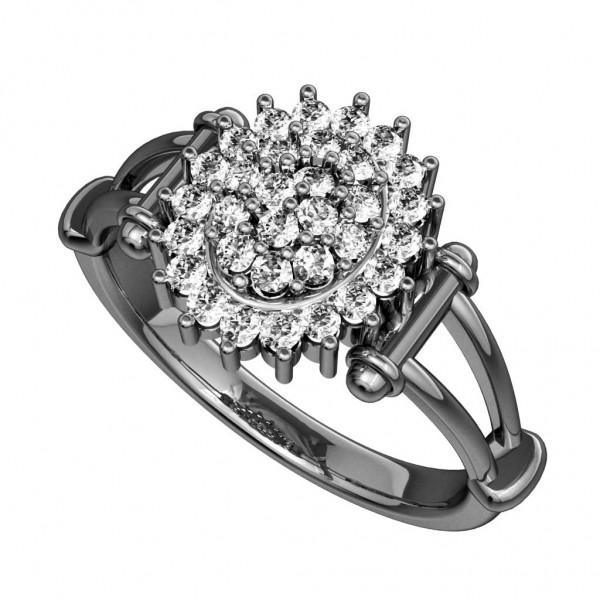 Sterling Silver  Ladies Ring made with Swarovski Zirconia SLRAA251