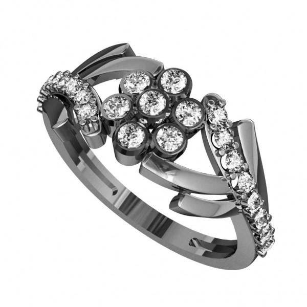 Sterling Silver  Ladies Ring made with Swarovski Zirconia SLRAA309