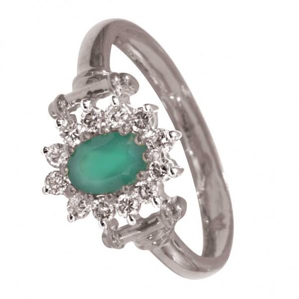 Sterling Silver  Ladies Ring made with Swarovski Zirconia SLRAA419