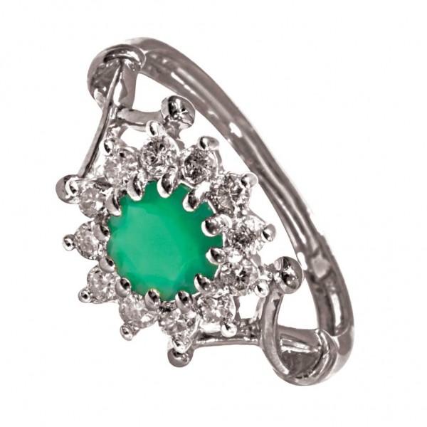 Sterling Silver  Ladies Ring made with Swarovski Zirconia SLRAA422