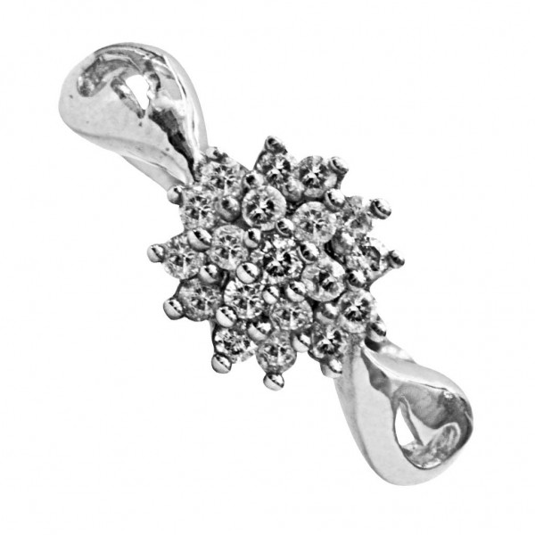 Sterling Silver  Ladies Ring made with Swarovski Zirconia SLRAA623