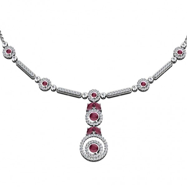 Sterling Silver  Necklace made with Swarovski Zirconia SNCAA002
