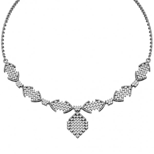 Sterling Silver  Necklace made with Swarovski Zirconia SNCAA009