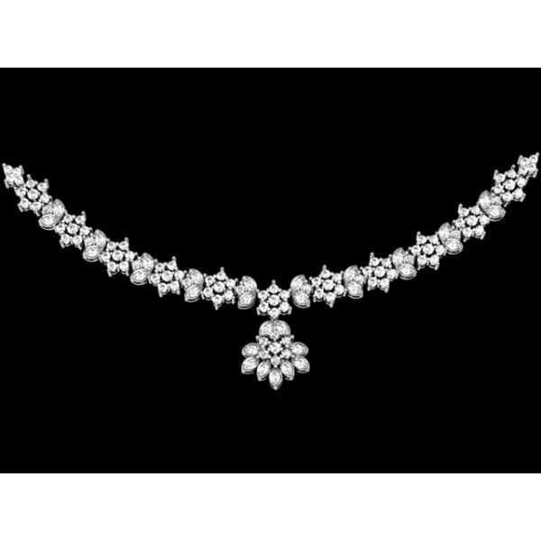 Sterling Silver  Necklace made with Swarovski Zirconia SNCAA010