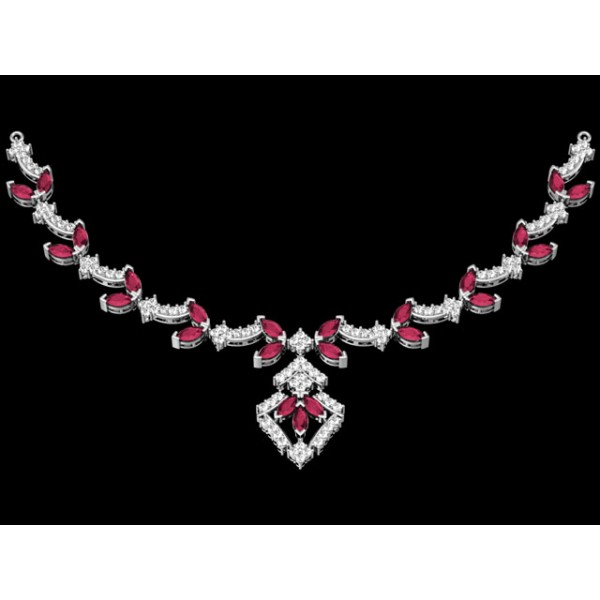 Sterling Silver  Necklace made with Swarovski Zirconia SNCAA013