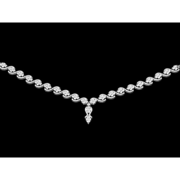Sterling Silver  Necklace made with Swarovski Zirconia SNCAA014