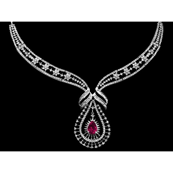 Sterling Silver  Necklace made with Swarovski Zirconia SNCAA033