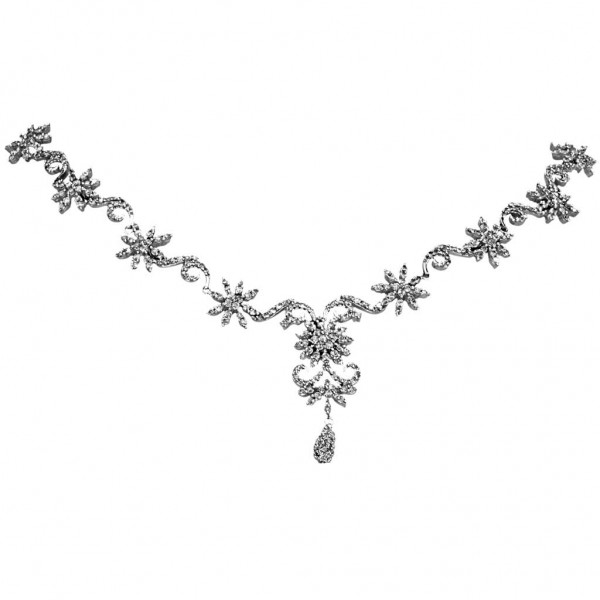 Sterling Silver  Necklace made with Swarovski Zirconia SNCAA035