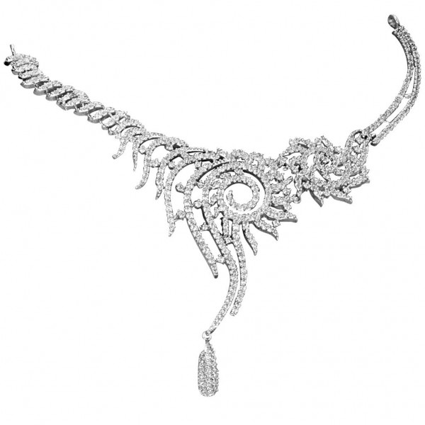 Sterling Silver  Necklace made with Swarovski Zirconia SNCAA049