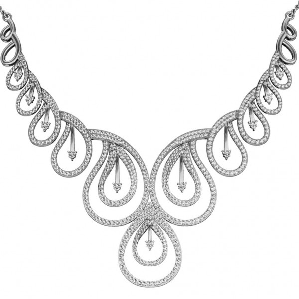 Sterling Silver  Necklace made with Swarovski Zirconia SNCAA053
