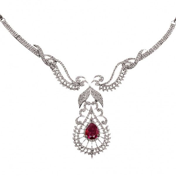 Sterling Silver  Necklace made with Swarovski Zirconia SNCAA068