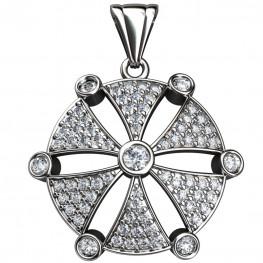 Sterling Silver  Pendant made with Swarovski Zirconia SPNAA022