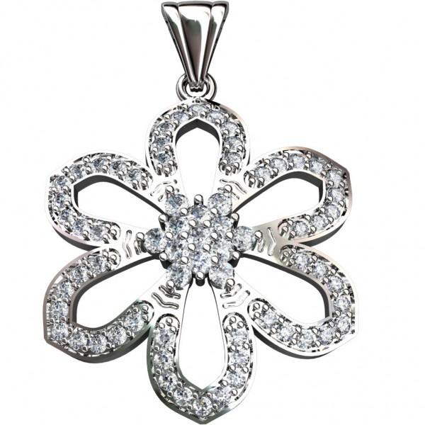 Sterling Silver  Pendant made with Swarovski Zirconia SPNAA023