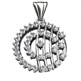 Sterling Silver  Pendant made with Swarovski Zirconia SPNAA108