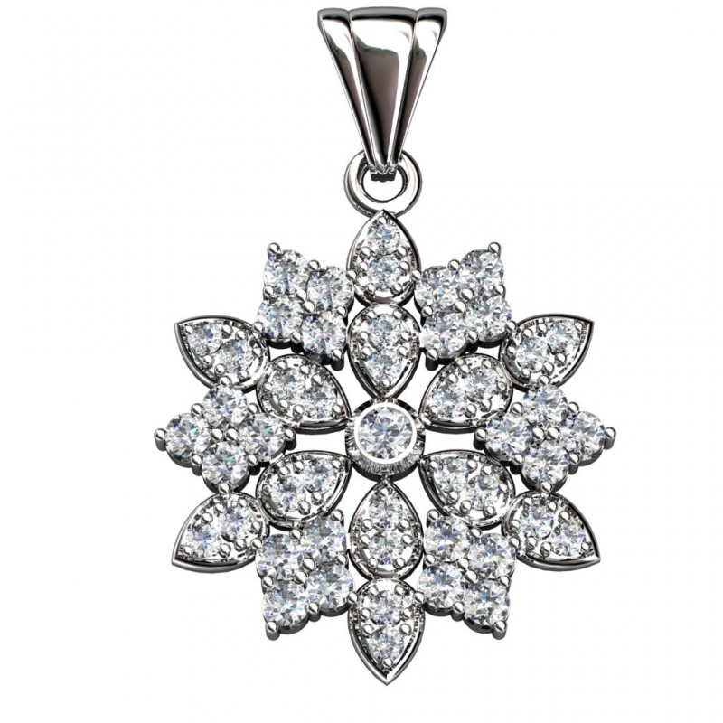 Sterling Silver  Pendant made with Swarovski Zirconia SPNAA112