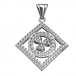 Sterling Silver  Pendant made with Swarovski Zirconia SPNAA156