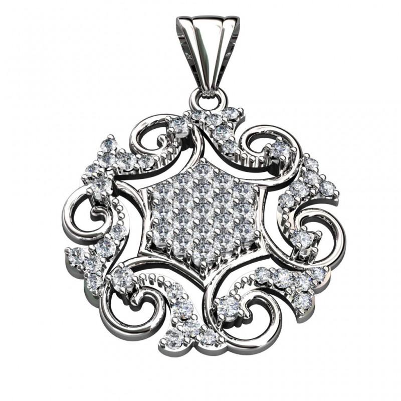 Sterling Silver  Pendant made with Swarovski Zirconia SPNAA167