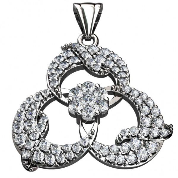Sterling Silver  Pendant made with Swarovski Zirconia SPNAA221