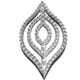 Sterling Silver  Pendant made with Swarovski Zirconia SPNAA229
