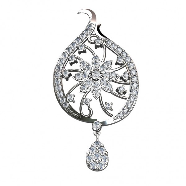 Sterling Silver  Pendant made with Swarovski Zirconia SPNAA235