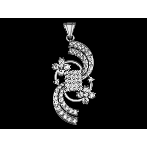Sterling Silver  Pendant made with Swarovski Zirconia SPNAA339