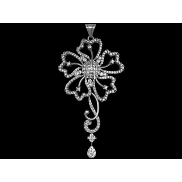 Sterling Silver  Pendant made with Swarovski Zirconia SPNAA342