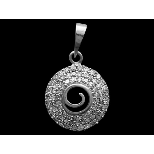 Sterling Silver  Pendant made with Swarovski Zirconia SPNAA594