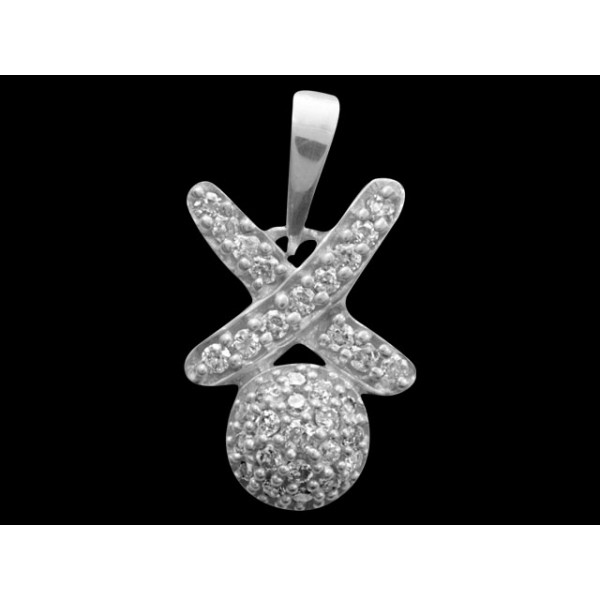 Sterling Silver  Pendant made with Swarovski Zirconia SPNAA601