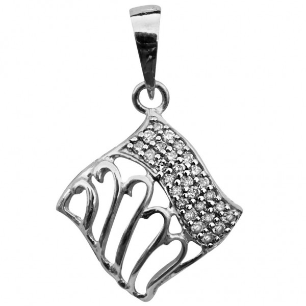 Sterling Silver  Pendant made with Swarovski Zirconia SPNAA609