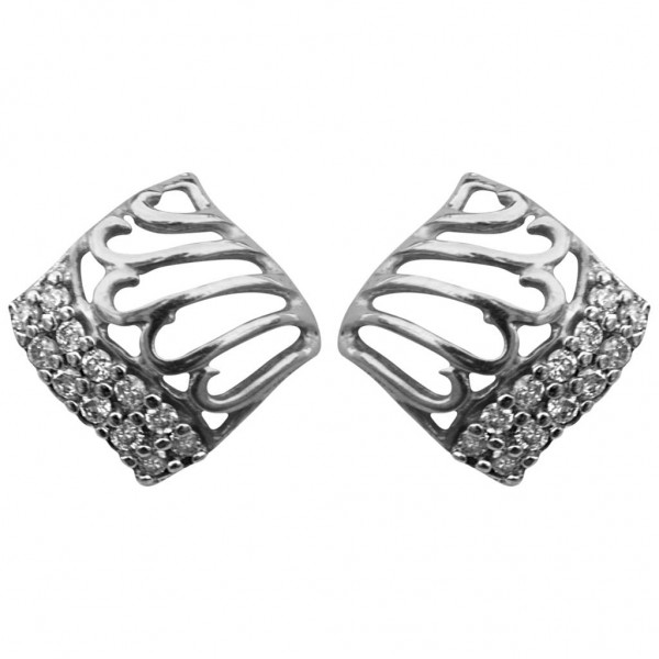 Sterling Silver  Tops made with Swarovski Zirconia SPNAA609T