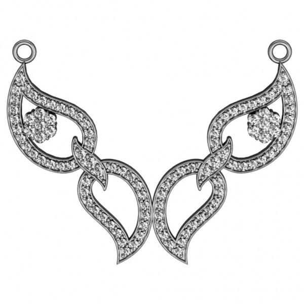 Sterling Silver  Timaniya made with Swarovski Zirconia STMAA029