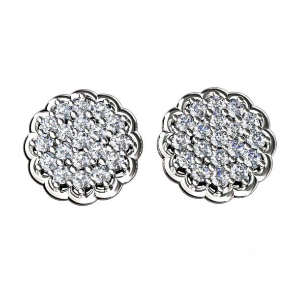 Sterling Silver  Tops made with Swarovski Zirconia STPAA017