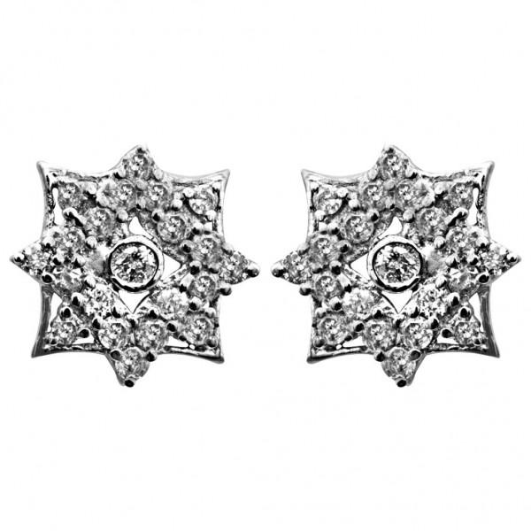 Sterling Silver  Tops made with Swarovski Zirconia STPAA331