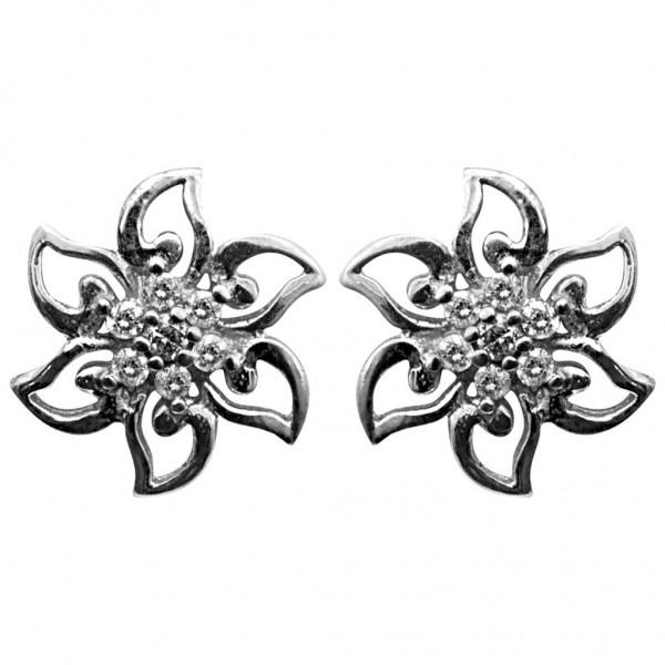 Sterling Silver  Tops made with Swarovski Zirconia STPAA479